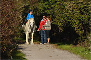 Horseback riding along the education trail